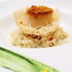 另一套套餐的干貝燉飯,干貝上是烤過的烏魚子耶,好特別。